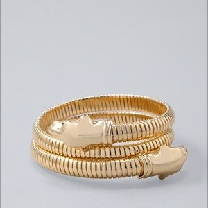 White House Black Market Gold Stretch Bracelet